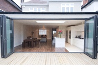 cheshire home works - design and installation bi-folding doors, bringing the outside in