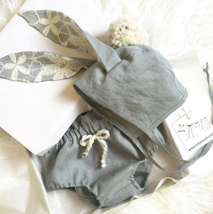 Handmade Linen Bunny Ears Bonnet & Bloomers   TotsModa on Etsy