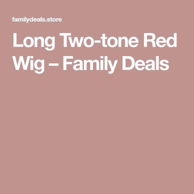 Long Two-tone Red Wig – Family Deals