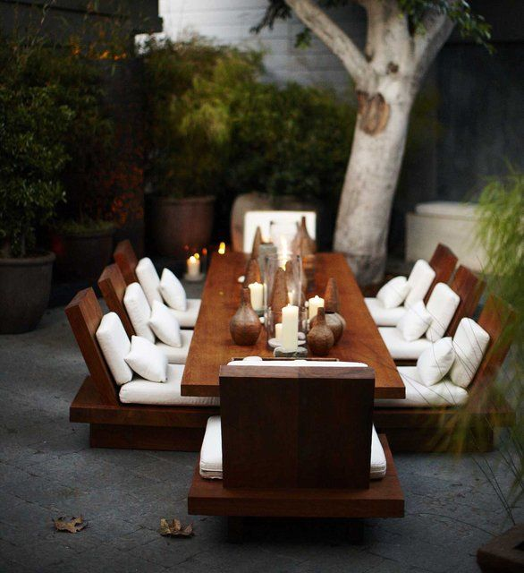 Outdoor dining: Outdoor Dining, Outdoor Seats, Outdoor Living, Givenchy, Outdoor Tables, Dinners Parties, Zen Gardens, Outdoor Sets, Outdoor Spaces