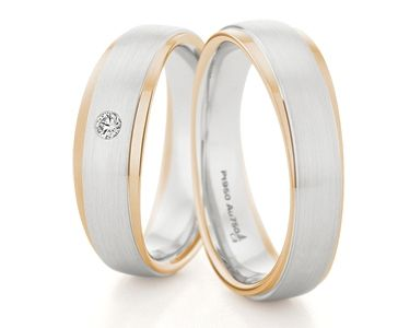 MATCHING PAIR OF PLATINUM & 18CT ROSE GOLD WEDDING RINGS BY CHRISTIAN BAUER <3