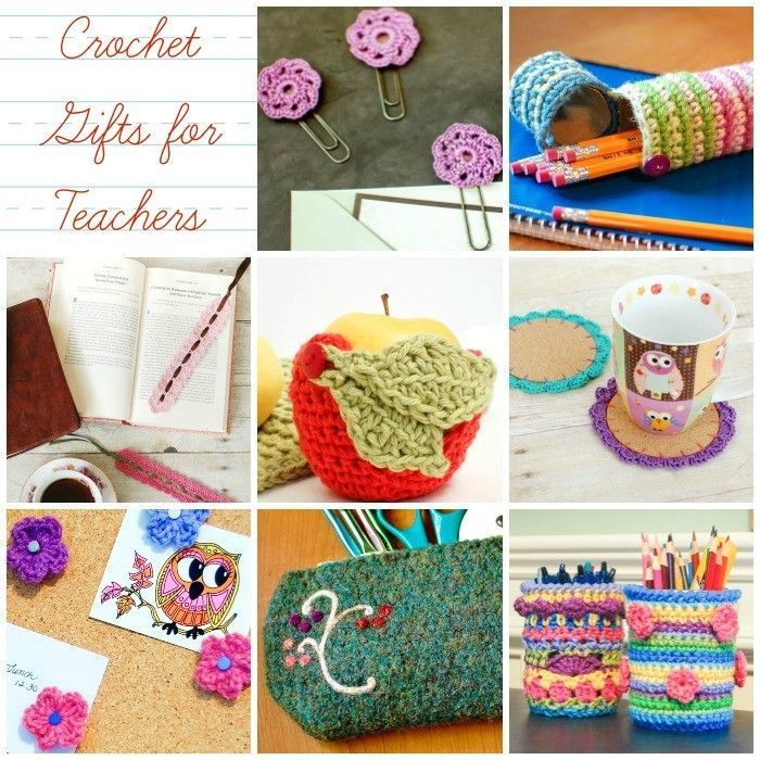 Teacher Appreciation Gifts ... Crochet Gifts for Teachers | www.petalstopicots.com | #crochet #teacher #patterns