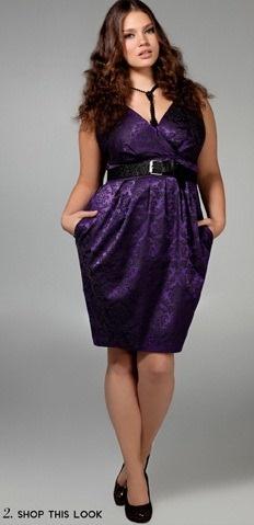 Vestidos de Noche Cortos para Gorditas 2012-