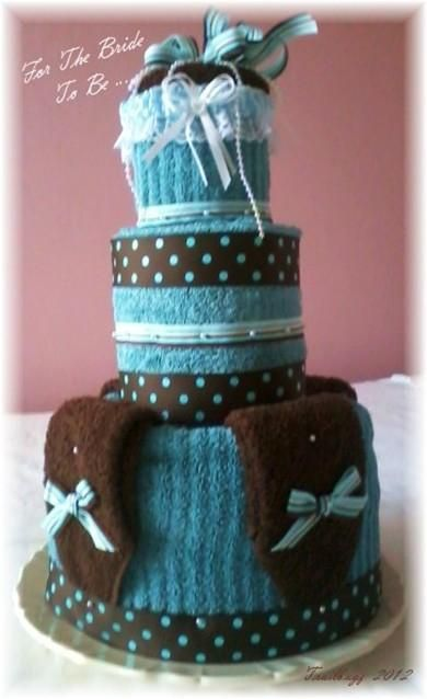 No Sew Bridal or Baby Shower Towell Cake