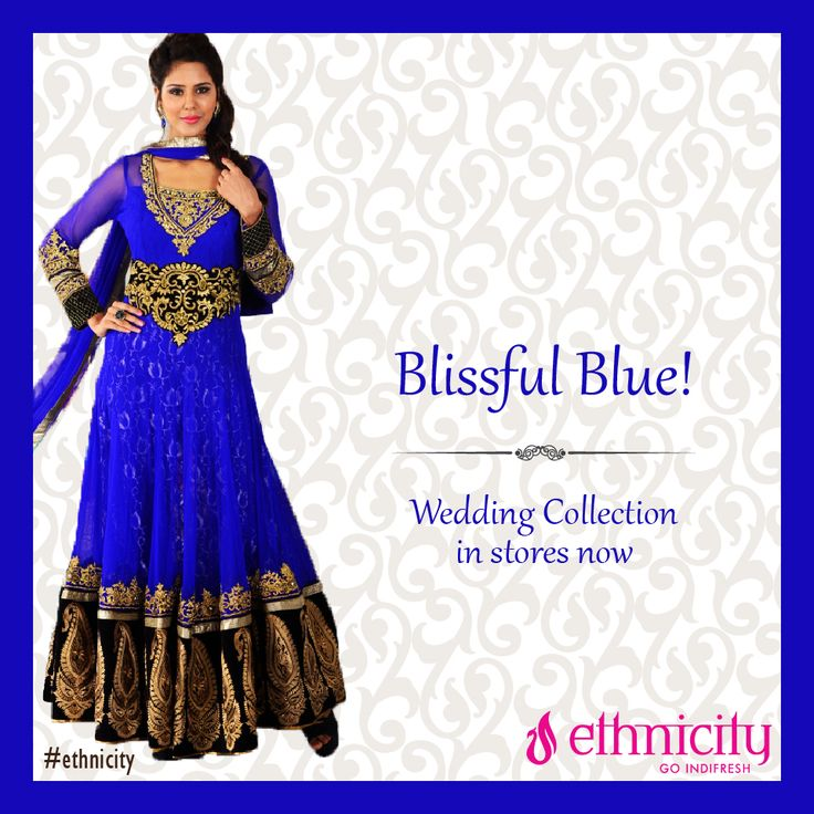 Wear a colour that matches the bliss of weddings. Explore our blue collection only at #ethnicity #indifresh #ethnic #weddingcollection #weddingdress #weddingwear