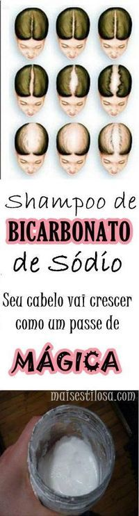 Shampoo com bicarbonato de sódio: Elimina a caspa,combate a queda e acelera o crescimento do cabelo. Aprenda como fazer!