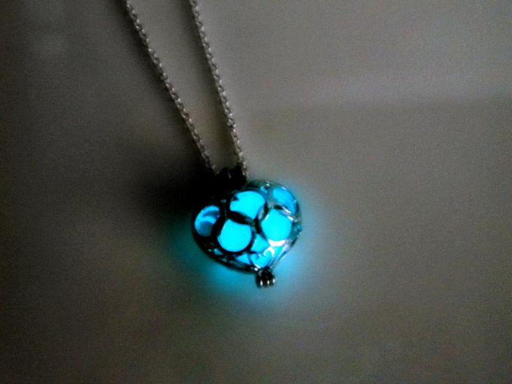 Glow in the dark poisoned heart necklace. $25.00, via Etsy.