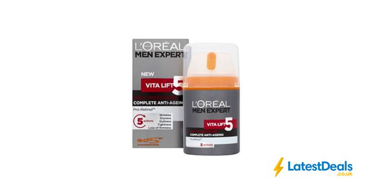 L'Oreal Men Expert Vita Lift 5 Anti Ageing Moisturiser 50ml Free C&C, £6 at Wilko