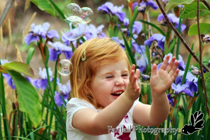 abbi having fun with bubbles