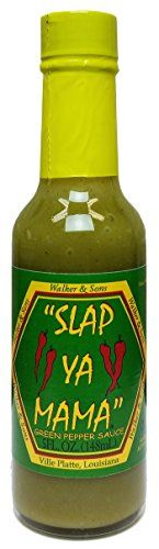"""SLAP YA MAMA"" Green Pepper Sauce - 5 Fl. Oz. (148ml) Sla... https://www.amazon.com/dp/B00UK7O4GO/ref=cm_sw_r_pi_dp_x_R4Z.xbY26SZBF"