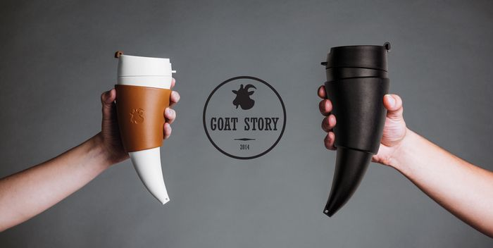What do we want in a travel mug? Something that won't leak all over the inside of your bag. Something that will keep your drink hot. Something that's easy to use and easy to hold. And naturally, something that looks good. Introducing: The Goat Story Mug.