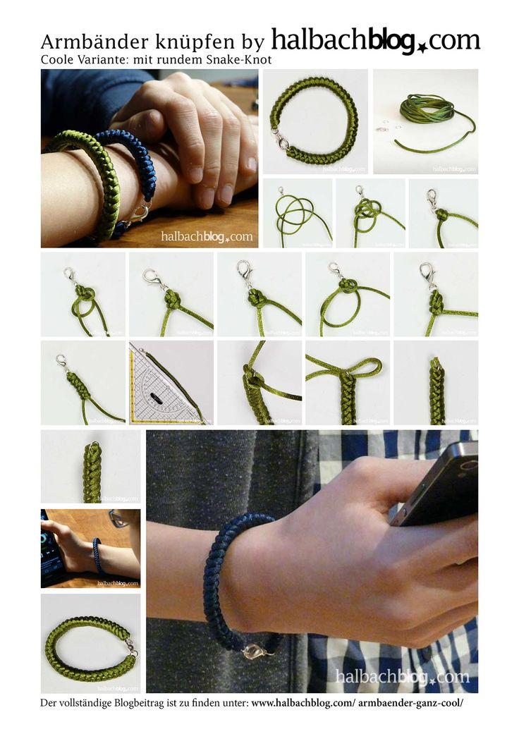 Eine lässige Armbänder Variante zum selber machen, für alle die es gerne etwas cooler mögen. Die gefallen sogar den Jungs ...