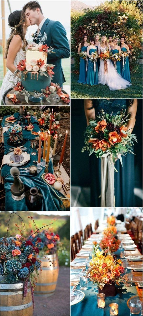 20 Dark Teal and Rust Orange Wedding Color Ideas for Fall in 2020 | Fall  wedding color schemes, Orange wedding colors, Teal wedding colors