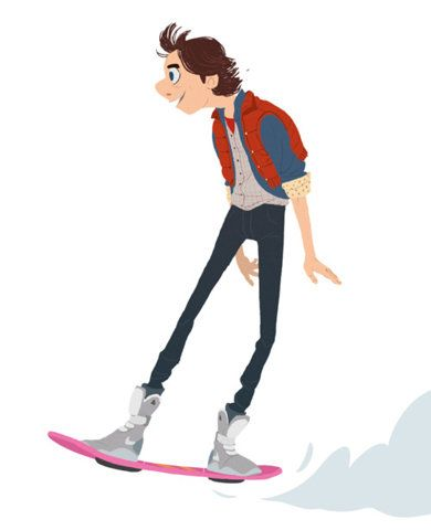 hover board: Mary Blog, Design Illustrations, Backtothefutur Delorean, Hoverboard Backtothefutur, Maxim Mary, Characterdesign, Marty Mcfly, Character Design, Future Hoverboard