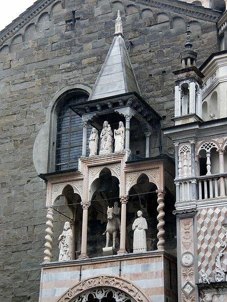 1472-75,1476.Santa Maria Maggiore (Bergamo) Works by Giovanni Antonio Amadeo.Saint John the Baptist churches in Lombardy. House of Colleoni. Bartolomeo Colleoni.