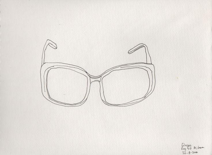 Line Drawing Glasses : Glasses line drawing marita green drawings