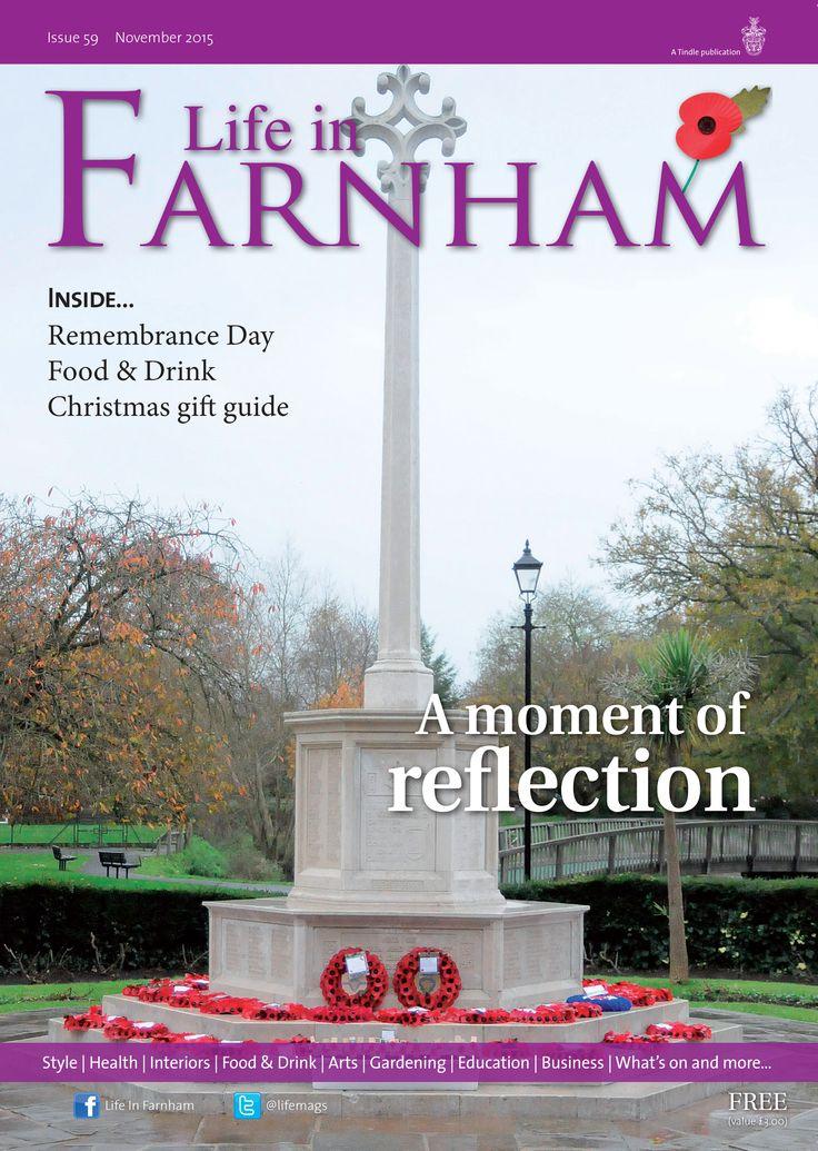 Life in Farnham November: A moment of reflection ~ War memorial in Gostrey Meadow, Farnham. #locallife #Farnham #Surrey #remembrance #lestweforget