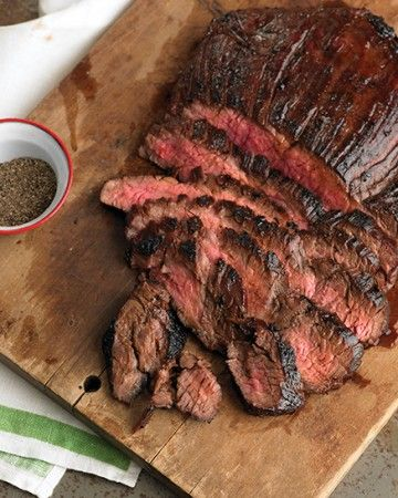 Ready to eat in just 25 minutes, this fast and flavorful flank steak gets its great flavor from a simple soy marinade.