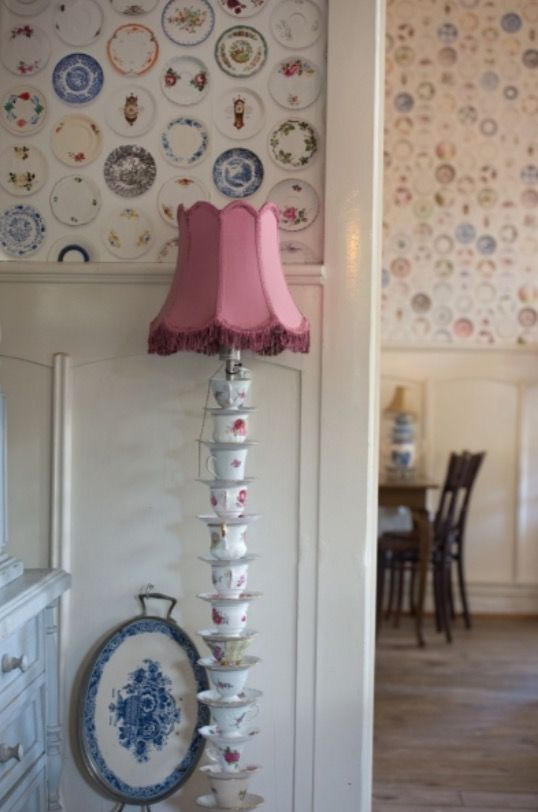 """This creative floor lamp is from our feature """"Ina's Cup of Tea"""""""