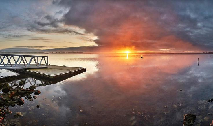 'Lake Connewarre at sunrise' Today is coolish in Torquay and it has made me think more of winter rather than summer. The complete panorama can be viewed on my website (18580) by surfcoastimages