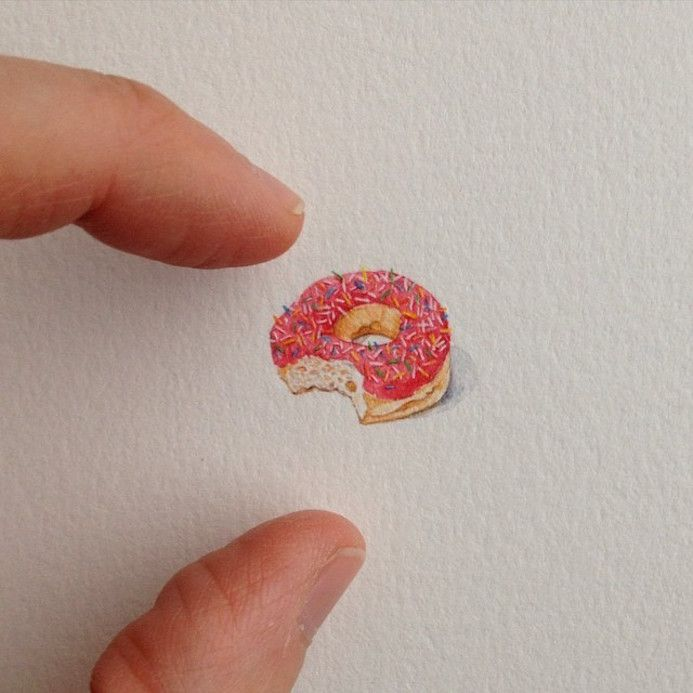 Best Mini Paintings Postcards For Ants Images On Pinterest - Artist creates miniature paintings everyday entire year