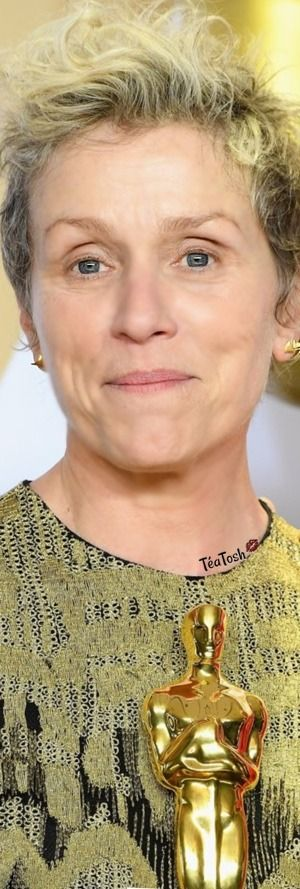"""Téa Tosh Frances McDormand won the Best Actress award for her role in """"Three Billboards Outside Ebbing, Missouri.(2018) Frances McDormand's Oscar award was stolen at an after-party in Hollywood Sunday night. (was recovered)"""