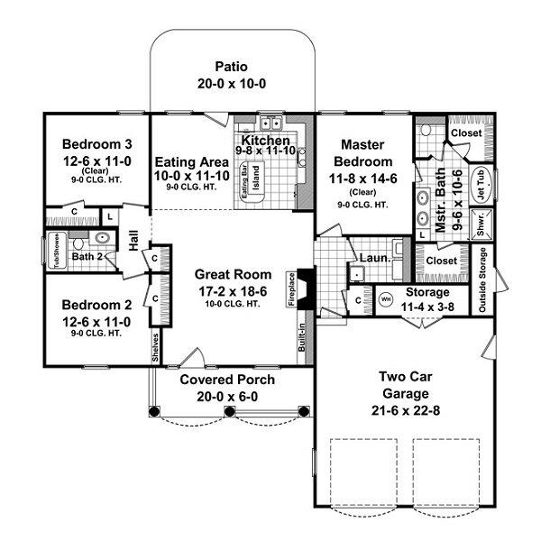 Garage Plans Blueprints 26 X 36 3 Car Traditional: 16 Best Images About House Plans On Pinterest