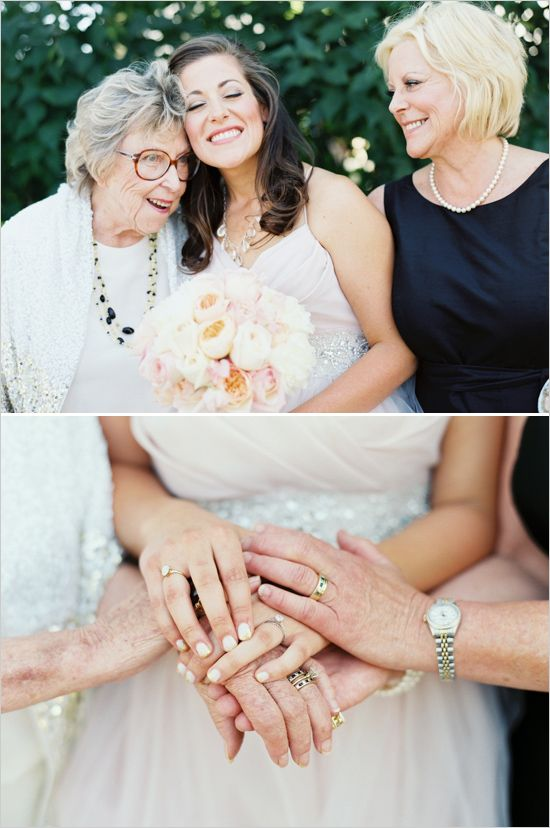 Grandmother Mother and Daughter wedding moments #generations #weddinginspiration #weddingchicks http://www.weddingchicks.com/2014/04/04/black-tie-oregon-wedding/