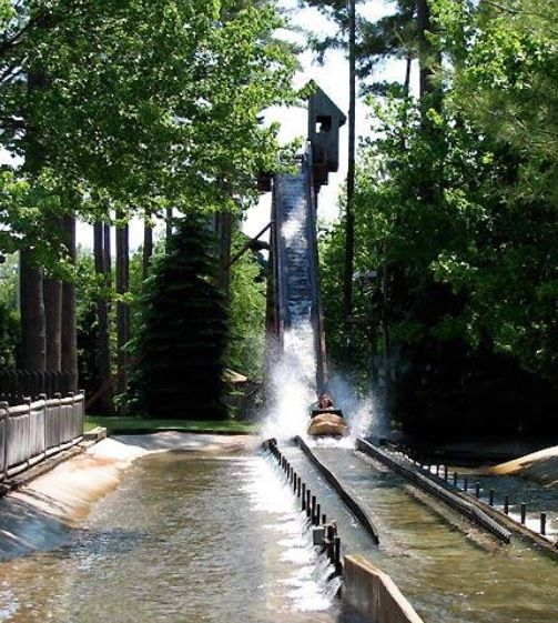 Canobie lake park log flume