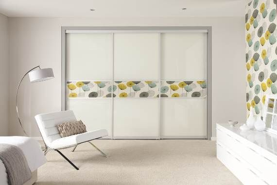 Wallpaper on sliding doors