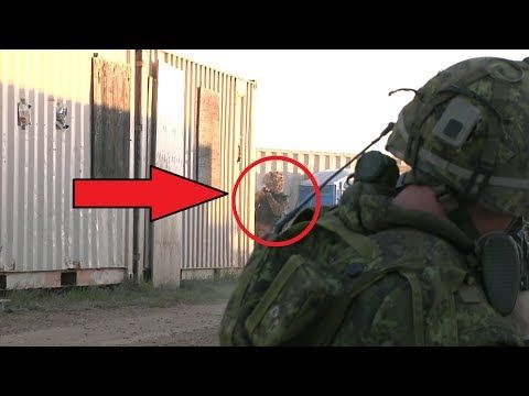 British Army Vs Canadian Army - Face To Face Between British & Canadian Soldiers In Simulated Combat