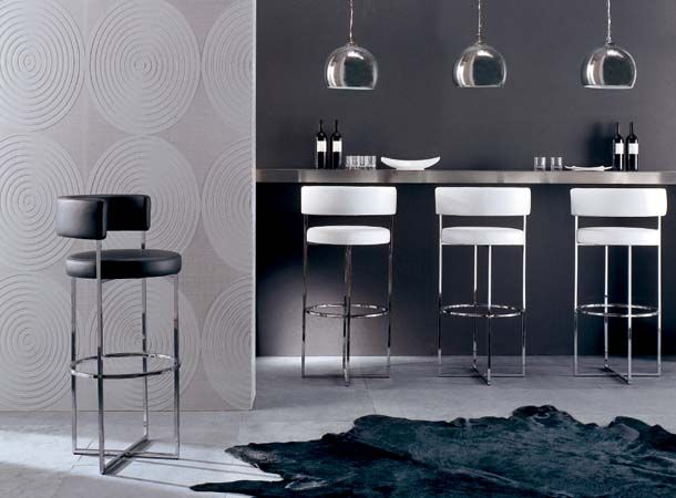 SIRIO SGABELLO Barstools, Transitional Home Bar Design at Cassoni.com