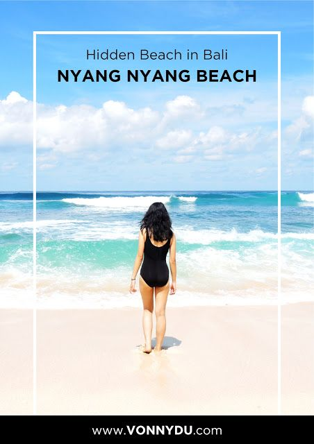 HIDDEN BEACH IN BALI : NYANG NYANG BEACH #beach #bali #travel #travelblog