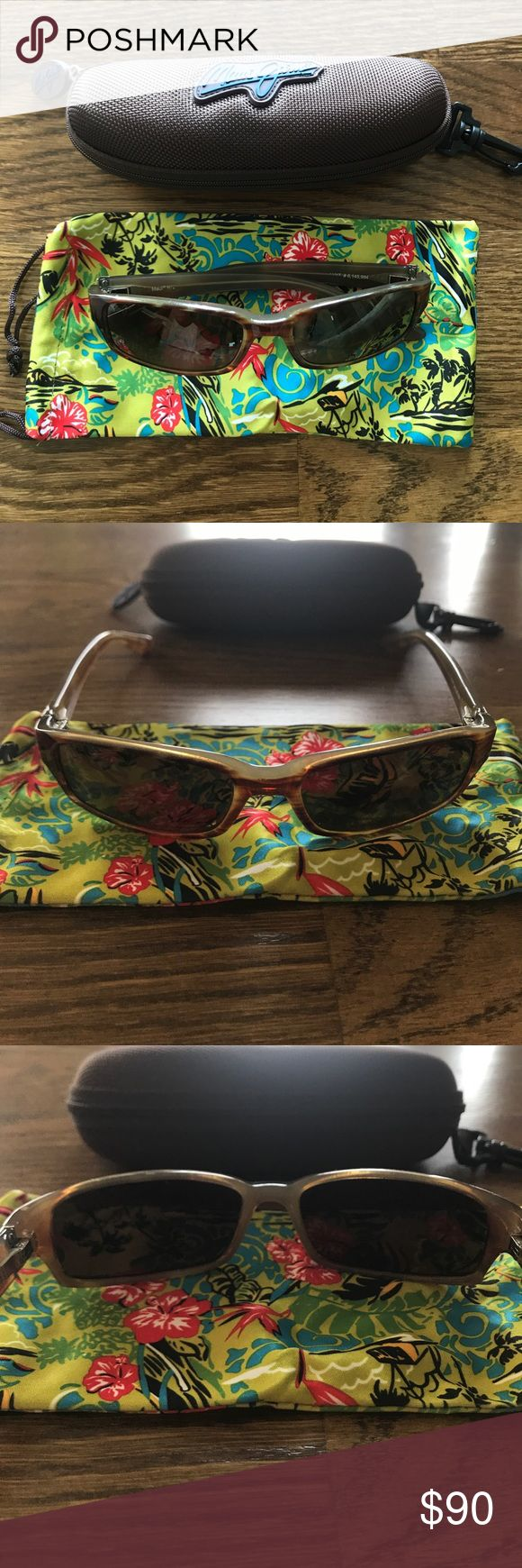 Maui Jim Sunglasses Atoll In great shape!! Comes with microfiber bag and case (seen in pictures). Maui Jim Accessories Sunglasses