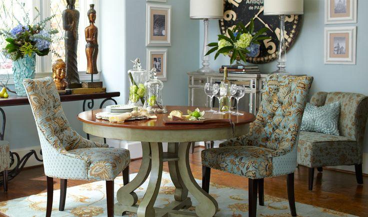 Vintage meets glam, and enjoys a nice dinner together @ Pier1.com.