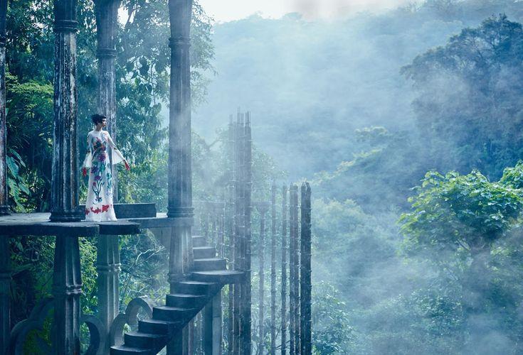 Las Pozas • Mexico • welcome to the jungle: grace hartzel by mikael jansson for us vogue april 2016