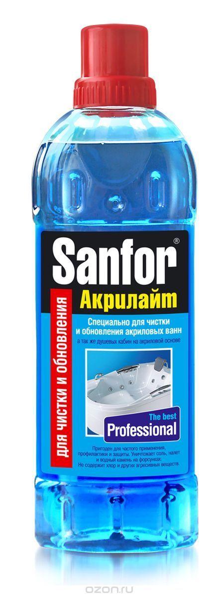 """Гель для чистки акриловых ванн Sanfor """"Акрилайт"""", 920 мл - купить по выгодной цене с доставкой. Хозяйственные товары от Sanfor в интернет-магазине OZON.ru"""