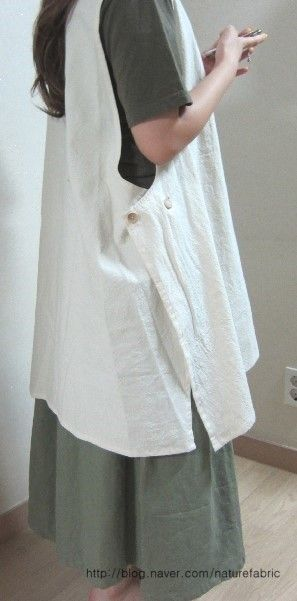 lightweight cotton pinafore apron