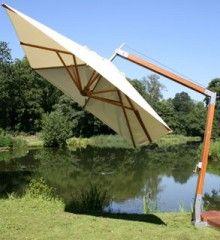 Bambrella 4m x 3m FSC Certified Side-Wind Cantilever Parasol