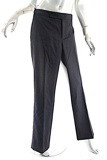 653f24960095d Ralph Lauren Gray Charcoal Wool Blend with Silver Pinstripe Detail Pants  Size 6 (S, 28). Free shipping and guaranteed authenticity on Ralph Lauren  Gray ...