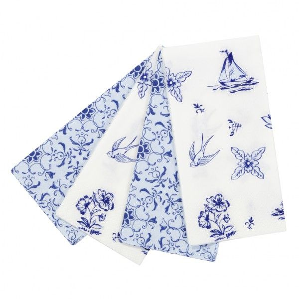 Servetit (20 kpl), Party Porcelain Blue