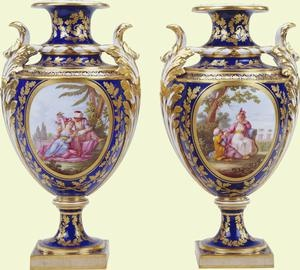 Pair of vases    c.1773    Sèvres    Acquired by George IV when Prince Regent
