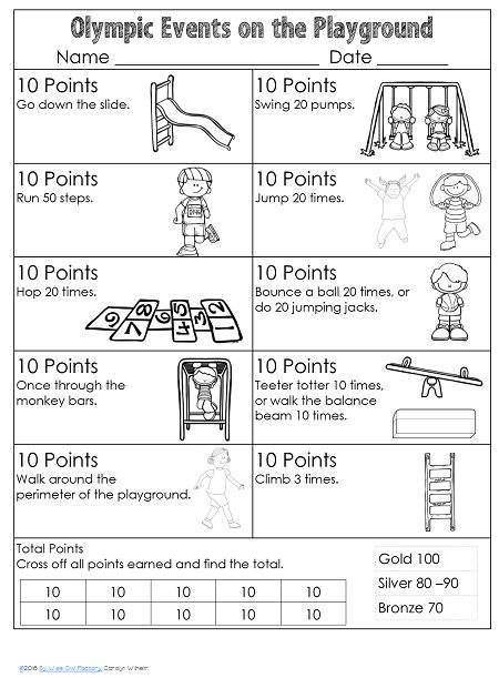 Blog post at Wise Owl Factory : Olympic Vocabulary and Playground Activity This post is a part of the Olympics series by an awesome group of kid…