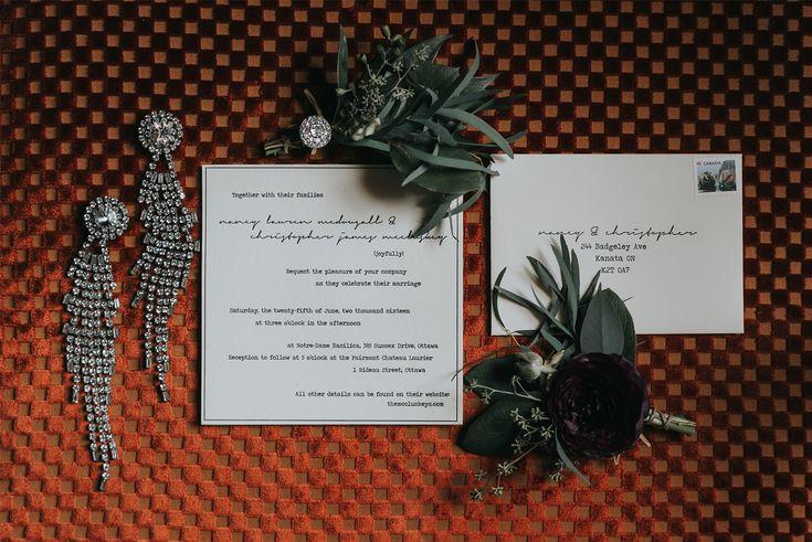 Letterpress Wedding Invitations Ottawa; Joel Bedford Photography