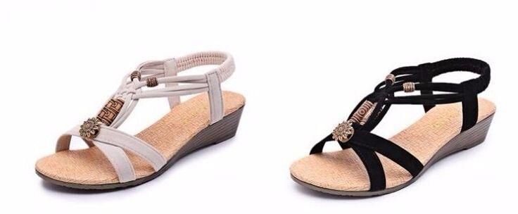 2016 Summer Vintage Women Sandals Gladiator Wedge Woman Shoes Beach Flip Flops Bohemia - CattleyaStore CattleyaStore