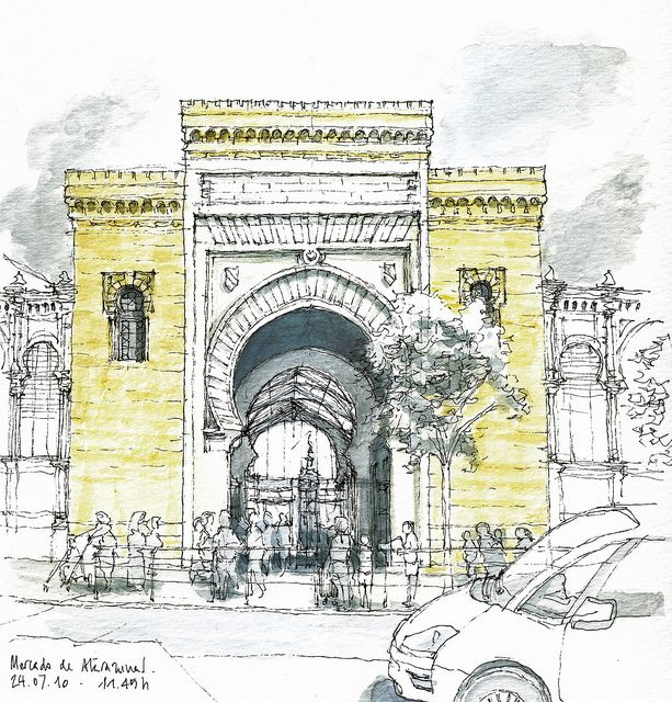 June CONTEST! COMMENT on the projects displayed on buildyful.com & WIN 100 USD! Find out more on buildyful.com #architecturestudents~~Málaga, main market (Atarazanas) by Luis_Ruiz, via Flickr