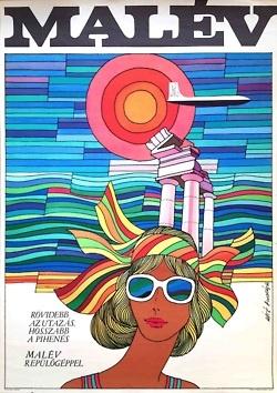 Malév #travel #poster Máté András