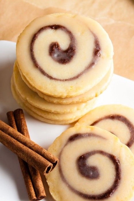You'll love these cinnamon bun cookies with real cinnamon sugar swirl baked into the center.