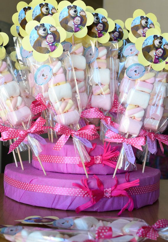 Marsha and Orso Marshmallows pops by SweetSusy84 on Etsy