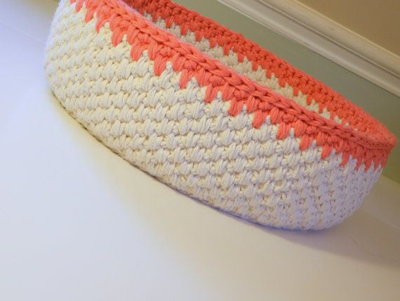 Crochet Magazine Basket Cat Bed Extra Large by CottageCoveCrochet, $48.00